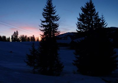 Abendstimmung im Winter
